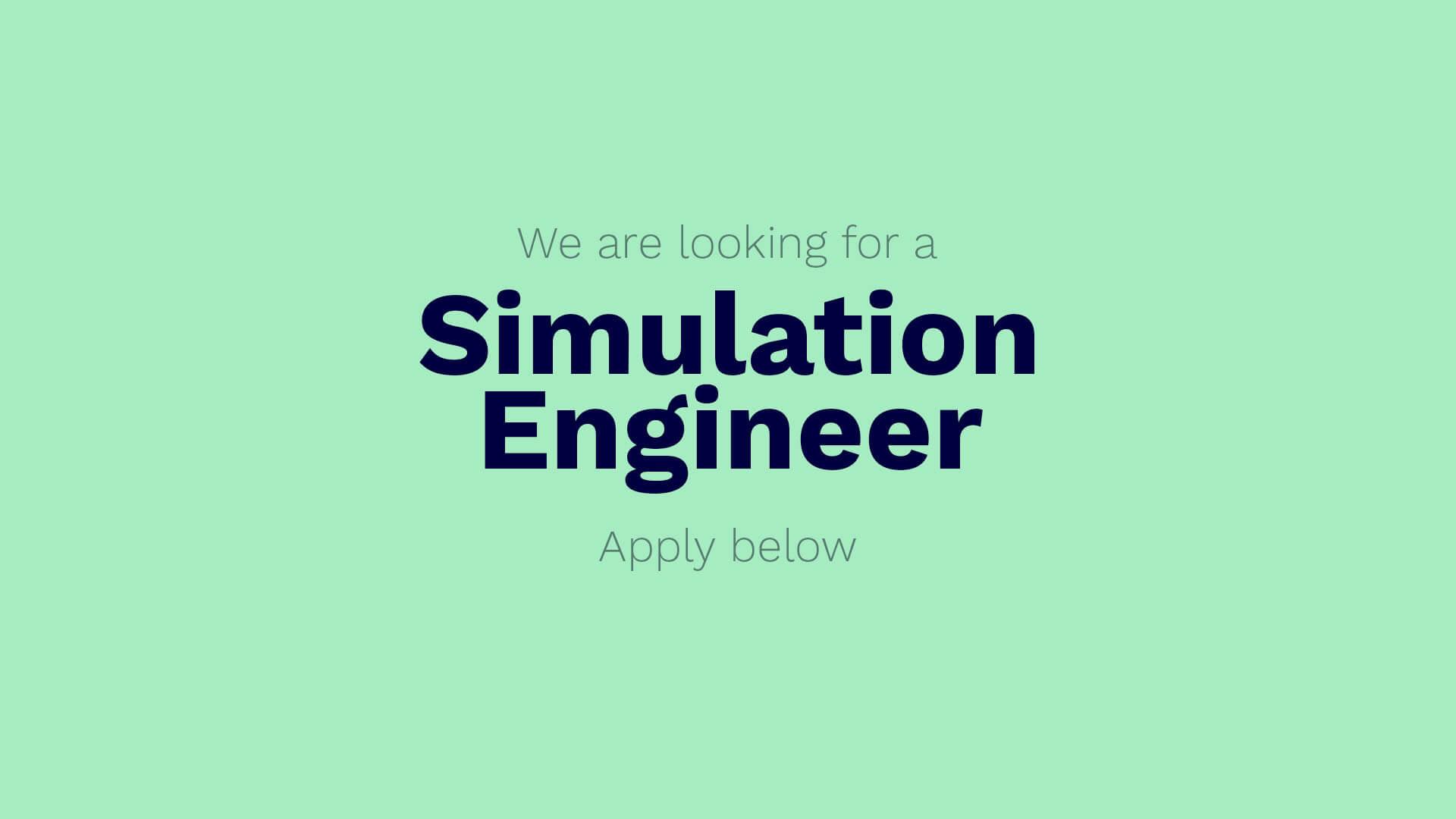 Vintecc - vacature - simulation engineer
